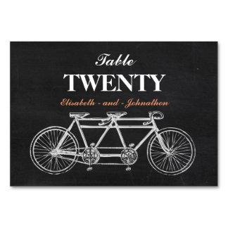 Tandem Chalkboard Wedding Table Card