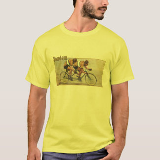 Tandem cyclists yellow jersey cycling T T-Shirt