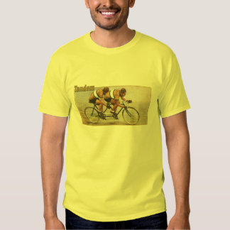 Tandem cyclists yellow jersey cycling T T-shirts