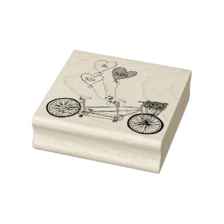Tandem love bike stamp