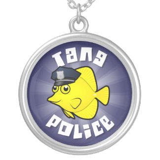 Tang Police Silver Plated Necklace
