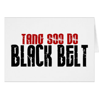 Tang Soo Do Black Belt Karate Greeting Card