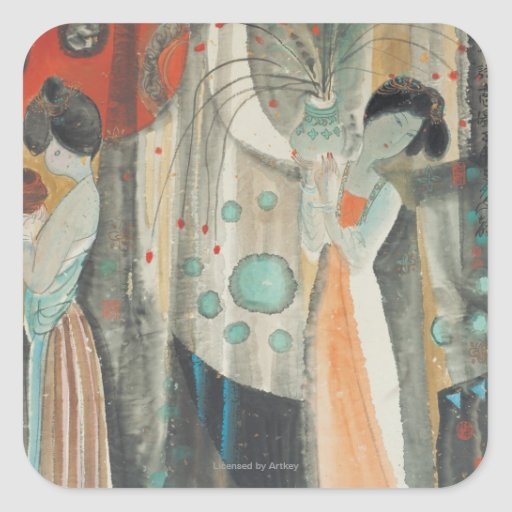 Tang Women Square Stickers