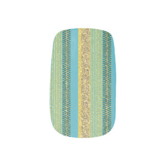 Tangable Golden Glitter Minx Nail Art