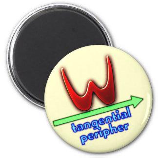 tangential peripheral 6 cm round magnet