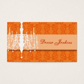 Tangerine Chandelier Biz Card