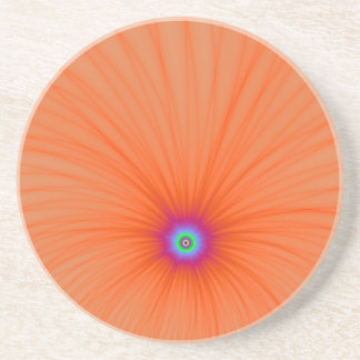 Tangerine Color Explosion Coaster