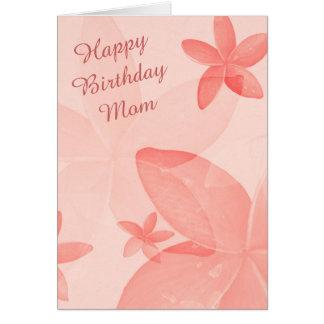 Tangerine Floral Mom Birthday Card