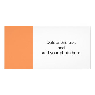 Tangerine High End Solid Color Customized Photo Card