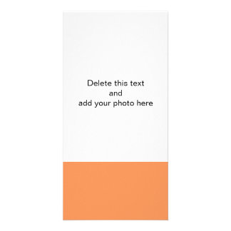 Tangerine High End Solid Color Personalized Photo Card