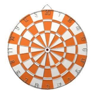 Tangerine Orange And White Dart Boards
