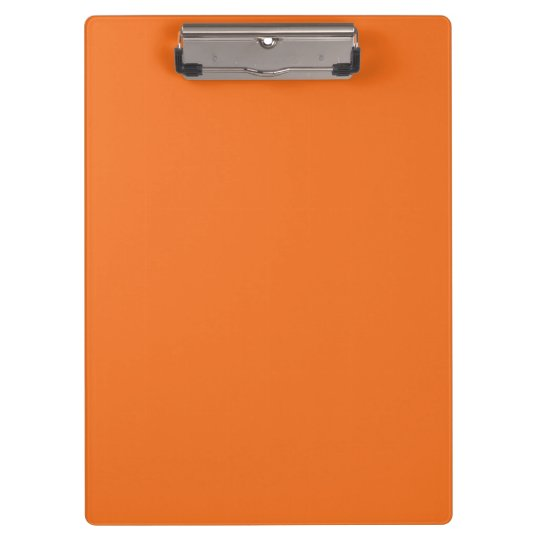 """Tangerine Orange"" Clipboard"