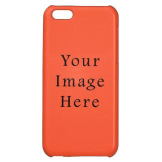 Tangerine Orange Color Trend Blank Template iPhone 5C Case