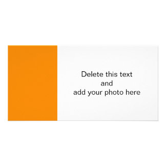 Tangerine Orange High End Colored Picture Card