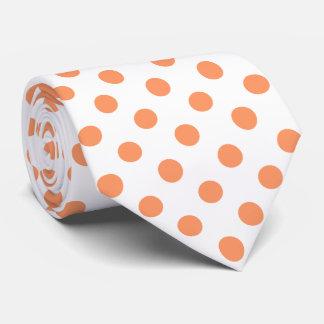 Tangerine Orange Polka Dots Circles Tie