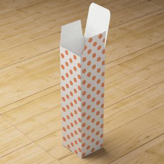 Tangerine Orange Polka Dots Circles Wine Boxes