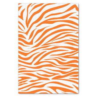 Tangerine Safari Zebra Tissue Paper
