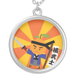 Tangerine Samurai Necklace