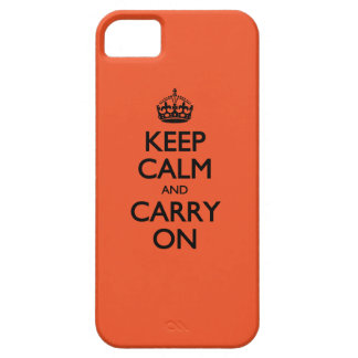 Tangerine Tango Keep Calm And Carry On iPhone 5 Case