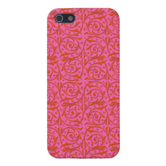 Tangerine Tango Orange and Pink Vines Covers For iPhone 5