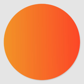 Tangerine to Scarlet Vertical Gradient Classic Round Sticker