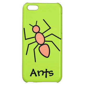 Tangerine Vector Ant (Grass Green Background) iPhone 5C Covers