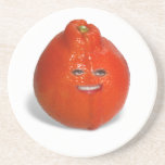 Tangerine  With Girl Face Beverage Coasters