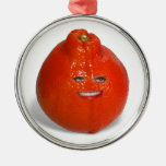 Tangerine  With Girl Face Christmas Ornament