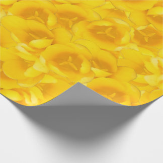 Tangerine Yellow Tulips Wrapping Paper