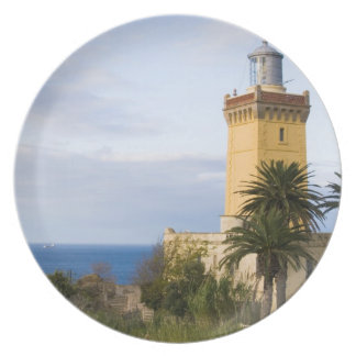 Tangier Morocco lighthouse at Cap Spartel Dinner Plate