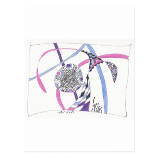 tangle bloom post cards