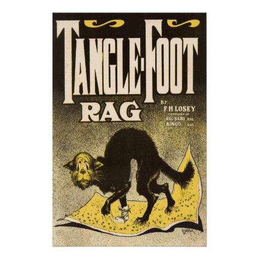 Tangle-foot Rag Cat Poster - Early Jazz music