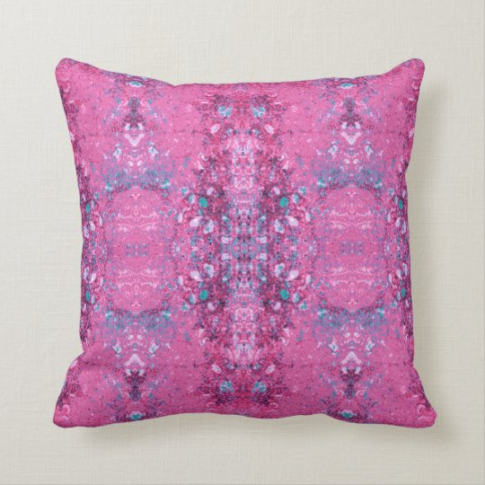 'Tangle' Pink and Turquoise Pattern Throw Pillow