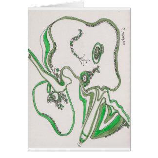 tangled bacterial mat greeting card