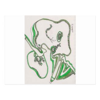 tangled bacterial mat postcard