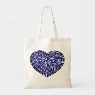 Tangled Blue Heart Tote Bag