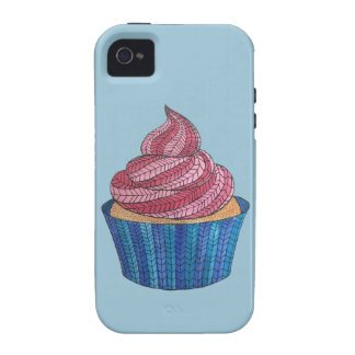 Tangled Cupcake iPhone 4/4S Tough Universal Case Vibe iPhone 4 Cases