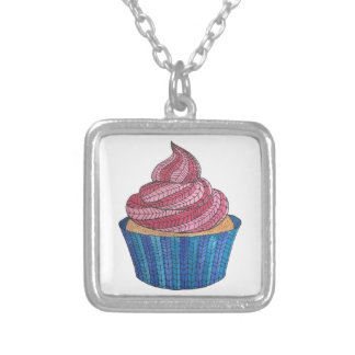 Tangled Cupcake Lover Silver Necklace