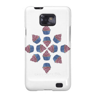 Tangled Cupcake Pattern Samsung Galaxy SII Cases