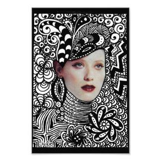 Tangled Face Photo Print