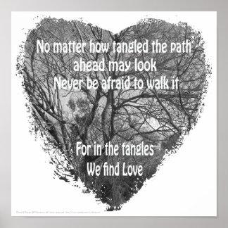 Tangled heart poster