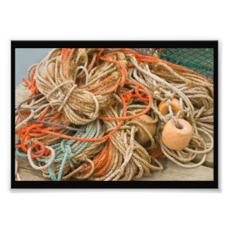 Tangled Rope And Fishing Equipment On Dock Photograph