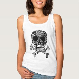 Tangled Skull and Crossbones Tank Top