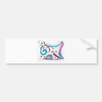 tangled swirls bumper stickers