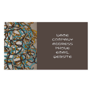 Tangled Threads Abstract Design Business Card
