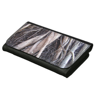 Tangled tree roots bizarre nature wallet