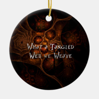 Tangled Web Round Ceramic Decoration