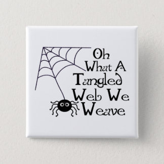 Tangled Web Spider 15 Cm Square Badge