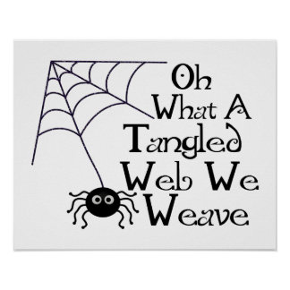 Tangled Web Spider Poster