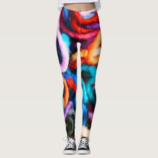 Tangled Yarn Multi-Color Custom Leggings